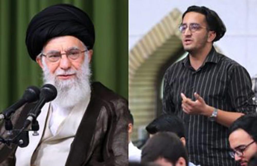 İranlı gəncdən Xameneinin önündə sensasion çıxış