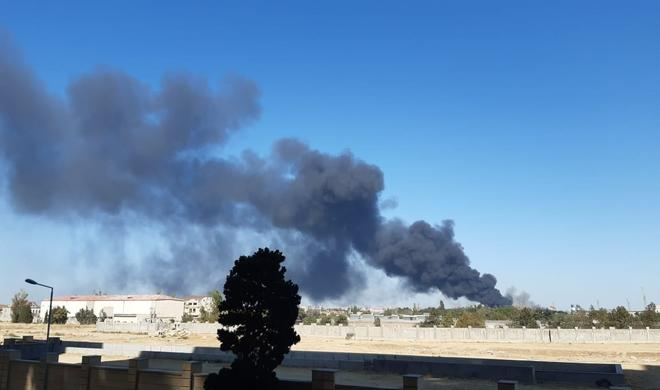 Пожар в Баку потушен - Видео/Обновлено