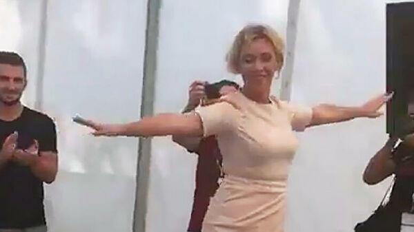 Захарова станцевала лезгинку - Видео