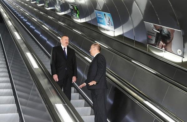 """İlham Əliyev """"Xətai"""" stansiyasında – Foto"""