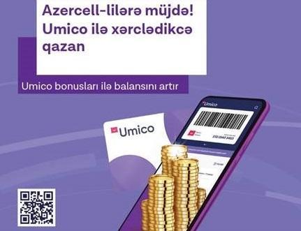 """Umico ilə alış-veriş edərək """"Azercell"""" nömrənizin balansını artırın!"""
