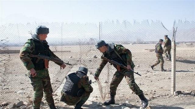 A shootout between Kyrgyz and  Tajik border guards