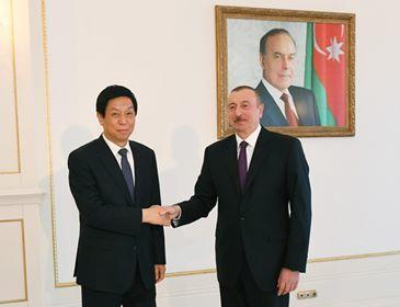 Ilham Aliyev receives Li Zhanshu