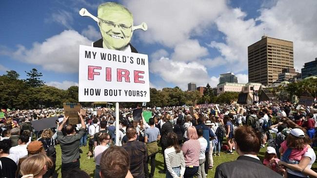 Climate protests in Sydney -