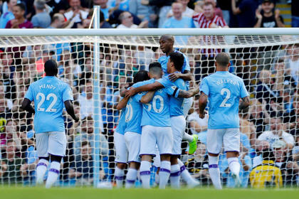 «Манчестер Сити» забил пять мячей за 18 минут