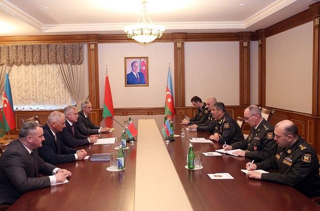 Zakir Həsənov Belarus dövlət katibi ilə görüşdü - Foto