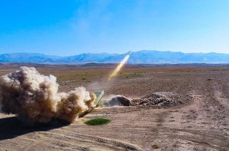Проведены армейские учения с боевыми стрельбами