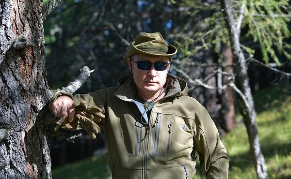 Putin with special forces -