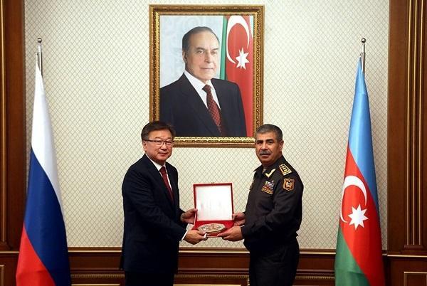 Zakir Həsənov Rusiyanın baş hərbi prokuroru ilə görüşdü