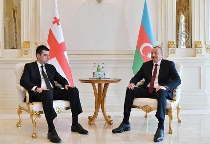 Ilham Aliyev met with Gakhariya