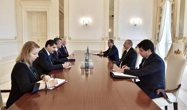 İlham Əliyev Türkiyənin təhsil naziri ilə görüşdü