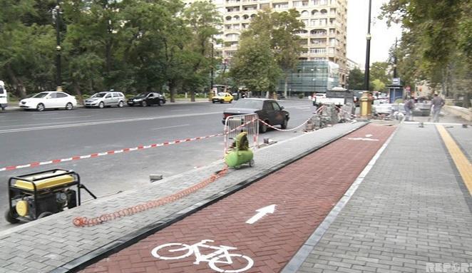 Протяженность велодорожек в Баку достигнет 251 км