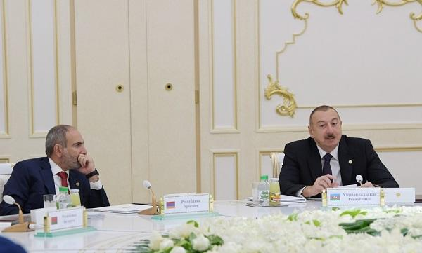 We may have a meeting with Ilham Aliyev next month