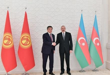 Ilham Aliyev met with the Kyrgyz president -