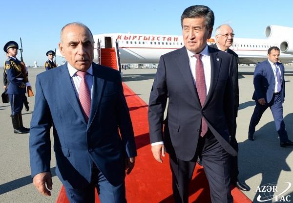 Президент Кыргызстана прибыл в Баку