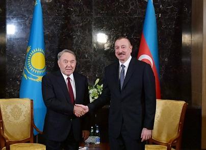 Ильхам Алиев встретился с Назарбаевым