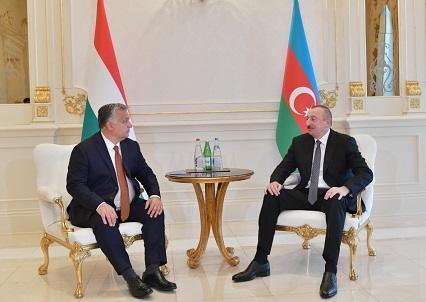 Əliyev Bakıda Orbanla görüşdü - İlk açıqlamalar