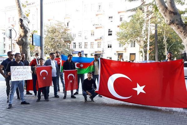 Tiflisdə Türkiyəyə dəstək aksiyası keçirilir – Foto