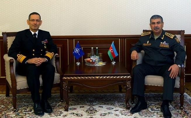 Zakir Həsənov NATO admiralı ilə görüşdü - Foto