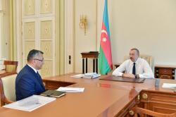 Президент принял Ровшана Рзаева