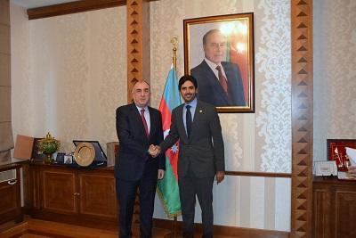 Azerbaijani FM meets Qatar's new ambassador