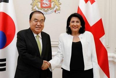 Korean Speaker invites Salome Zourabichvili to Seoul