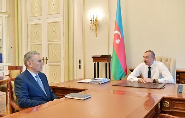 President receives Ali Hasanov as he resigns