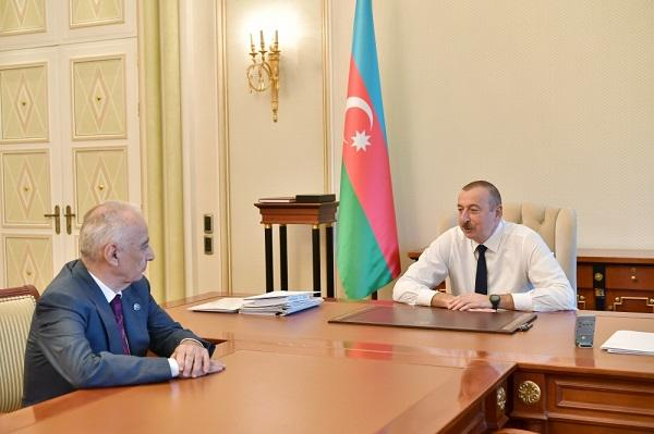 President receives Hajibala Abutalibov