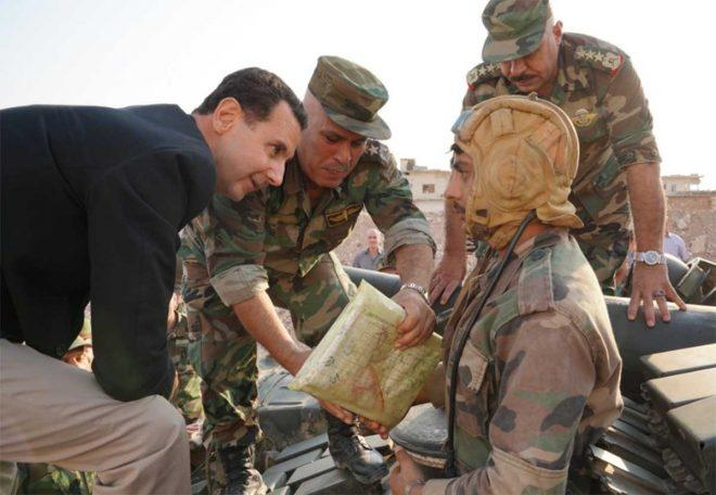Assad arrived on the border with Turkey -
