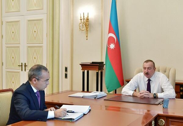 President Ilham Aliyev received Mikail Jabarov