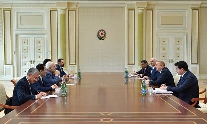 Ilham Aliyev met with Javad Zarif