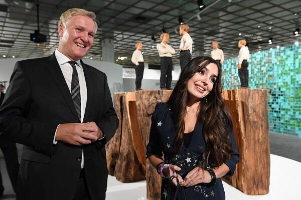 Leyla Əliyevanın əsəri Müasir İncəsənət Biennalesində - Foto