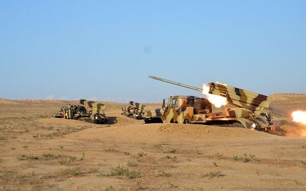 Rocket-artillery batteries conduct exercises -