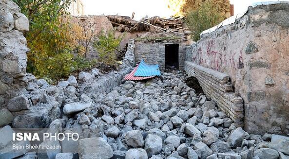 زلزهله نتیجهسینده میانا و سارابدا ۲۳۰۰ ائوه زیان دیدی