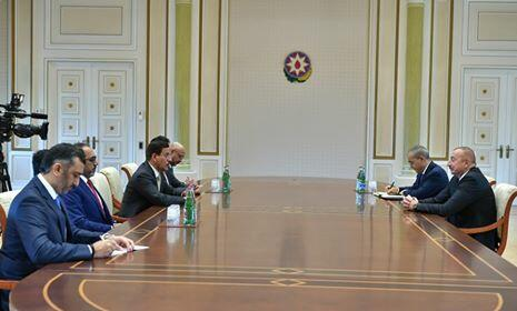 Ilham Aliyev met with the Arab Minister