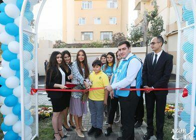 Leyla Aliyeva at the opening of the next courtyard