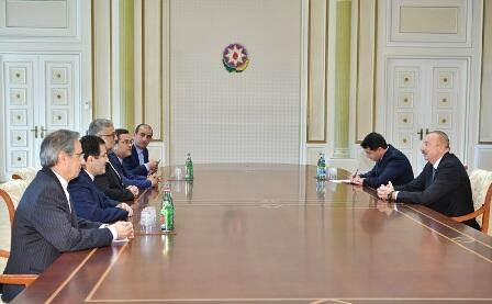 Ilham Aliyev met with the Iranian delegation