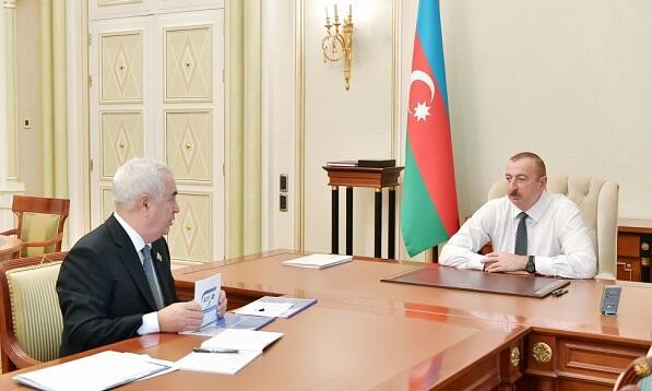 Президент принял Джавида Гурбанова