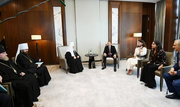 President and his family met with Patriarch Cyril -