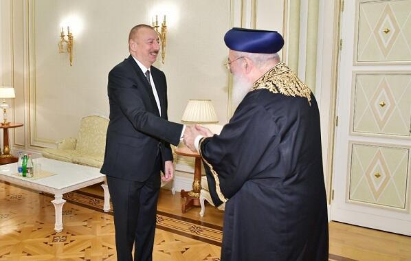 İlham Əliyev Qüdsün baş ravvini ilə görüşdü