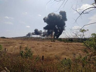 MiQ-29 qəzaya uğradı: quş sürüsü ilə toqquşma... - Foto