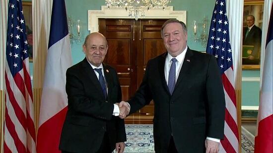 Помпео провел переговоры с главой МИД Франции