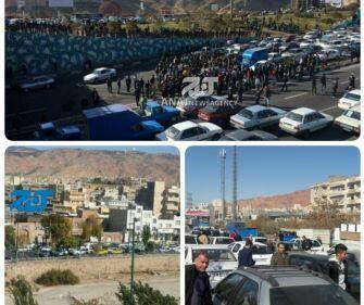 تجمعات اعتراضی به گرانی بنزین تبریز