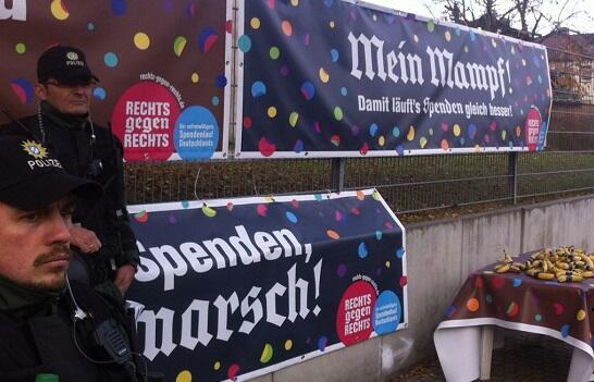 Акция неонацистов началась в Германия