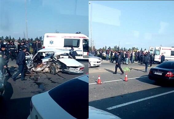 Aeroport yolunda ağır qəza: 4 nəfər öldü