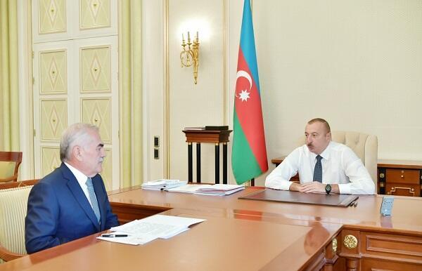 Ильхам Алиев принял Васифа Талыбова