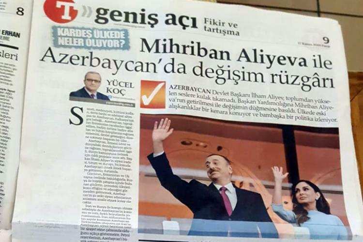 Azərbaycanda Mehriban Əliyeva reallığı... - Türkiyə KİV