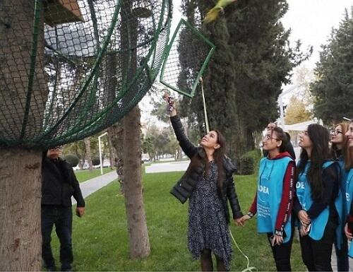 Лейла Алиева на акции в рамках проекта IDEA