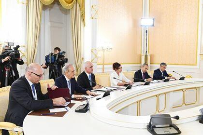 Визит Мехрибан Алиевой в РФ на российских телеканалах