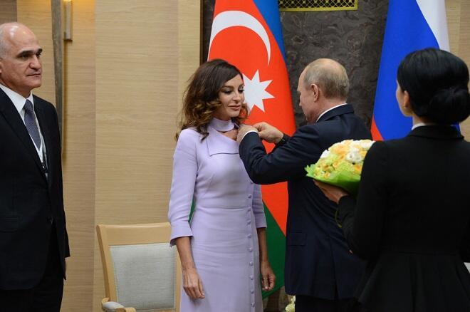 Путин наградил Мехрибан Алиеву Орденом Дружбы